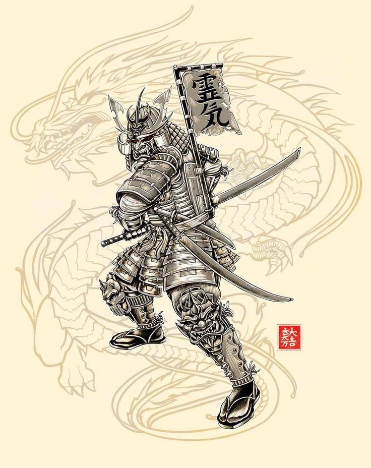 Drawn samurai bushido 96 Pinterest images on samurai