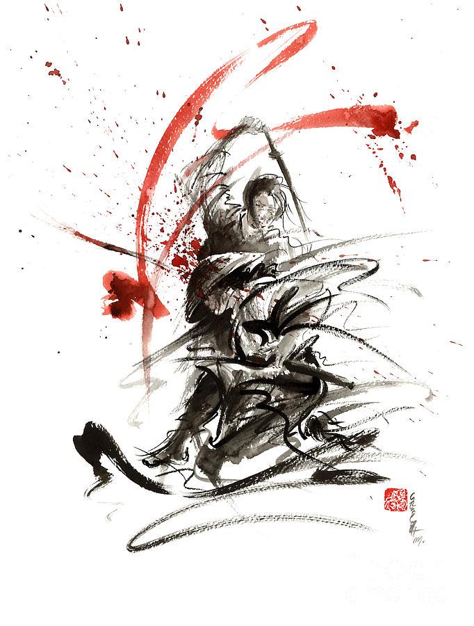 Drawn samurai bushido Bushido Martial Sword Bushido Sumi