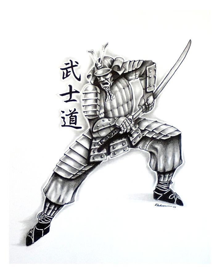 Drawn samurai bushido Design Samurai Drawing Adamache Kyle