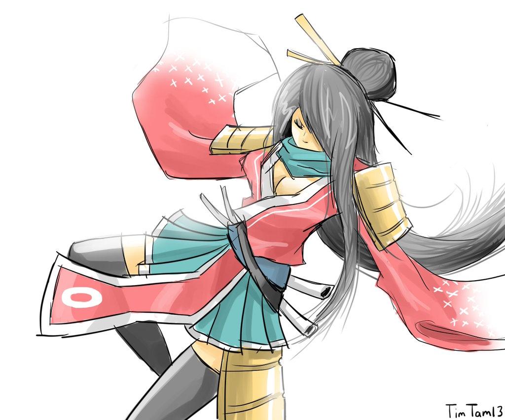 Drawn samurai cartoon Girl TimTam13 (practice) Girl (practice)