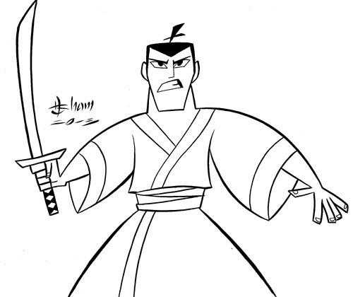 Drawn samurai cartoon The Jack Animated Two East: