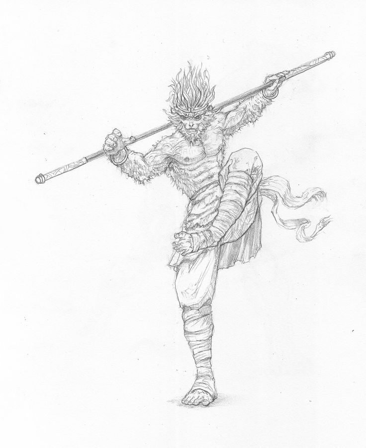 Drawn samurai chinese Monkey King Robert Pinterest by