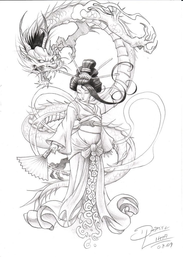 Drawn samurai chinese Pinterest geisha by lima gustan