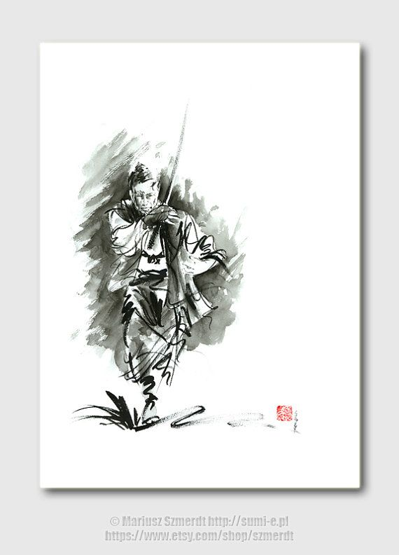 Drawn samurai chinese Katana Mens gift best men