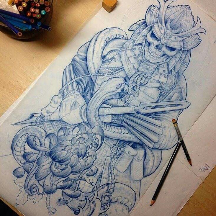 Drawn samurai dead Pinterest Samurai Drawing's Samurai Dead