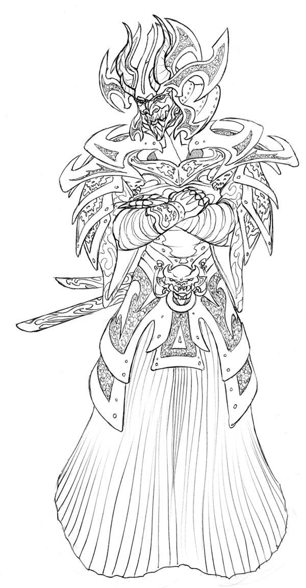 Drawn samurai demonic Amonthor on Amonthor by DeviantArt