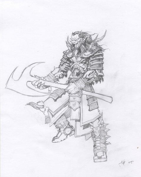 Drawn samurai demonic TOD Birkeland Ingar by ArtWanted