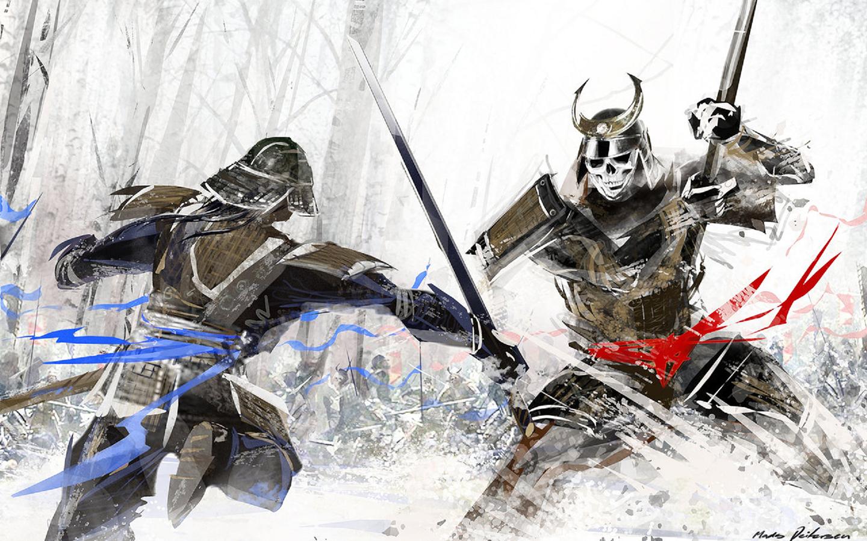 Drawn samurai desktop background Samurai ID:438597 Background Samurai Fantasy