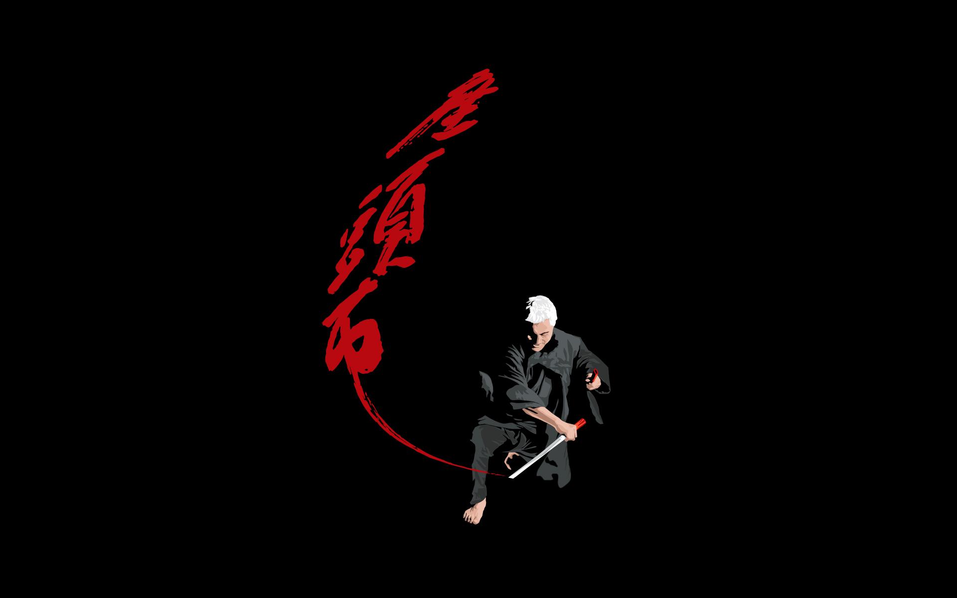 Drawn samurai desktop background Art Wallpaper wallarthd Wallpaper Sword