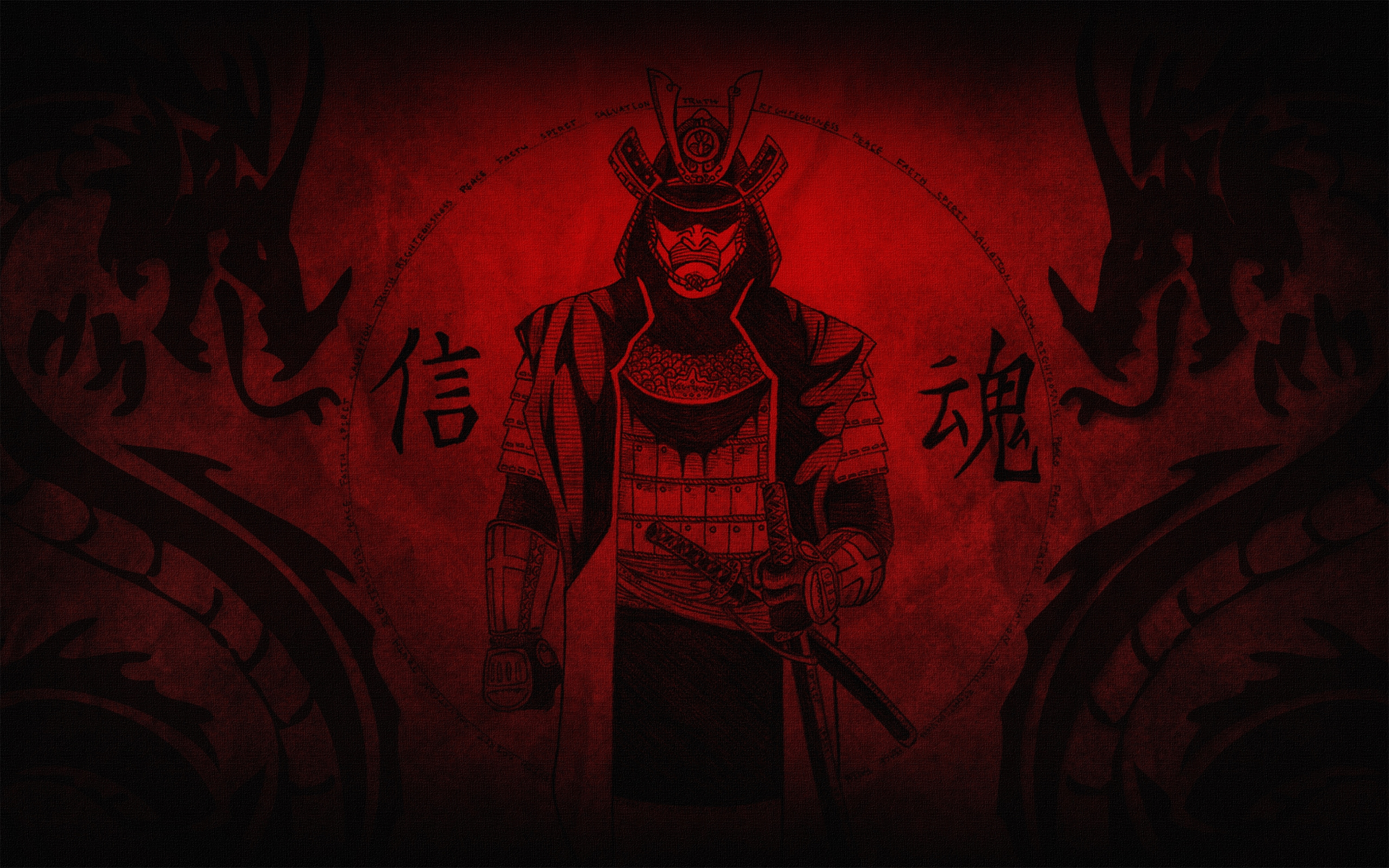 Drawn samurai desktop background Computer Desktop ID Desktop Samurai