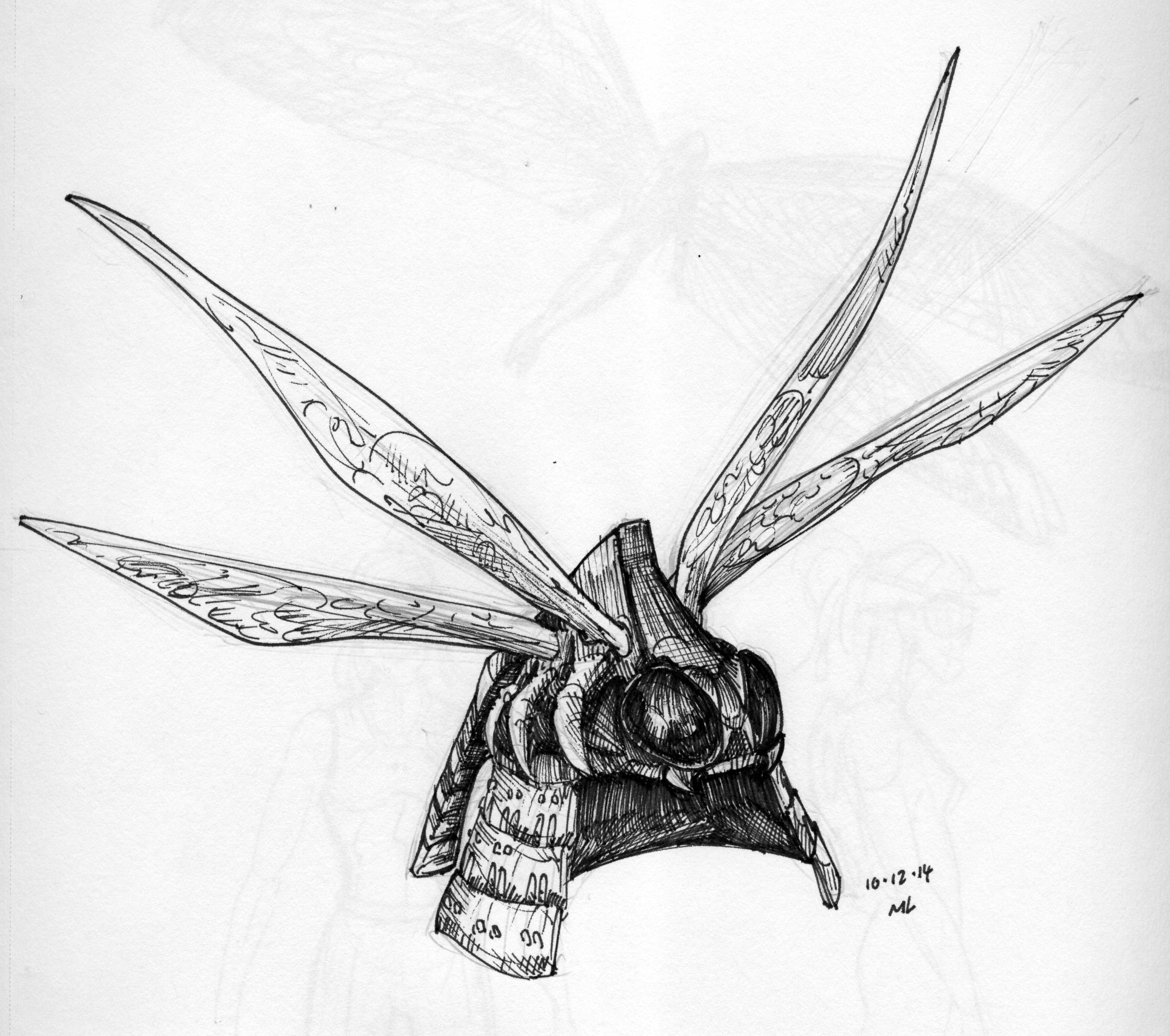 Drawn samurai dragonfly Series kabuto samurai mrleemrlee dragonfly