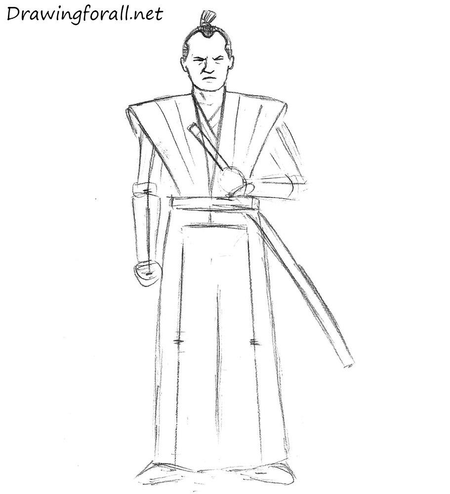 Drawn samurai easy To net Draw to easy