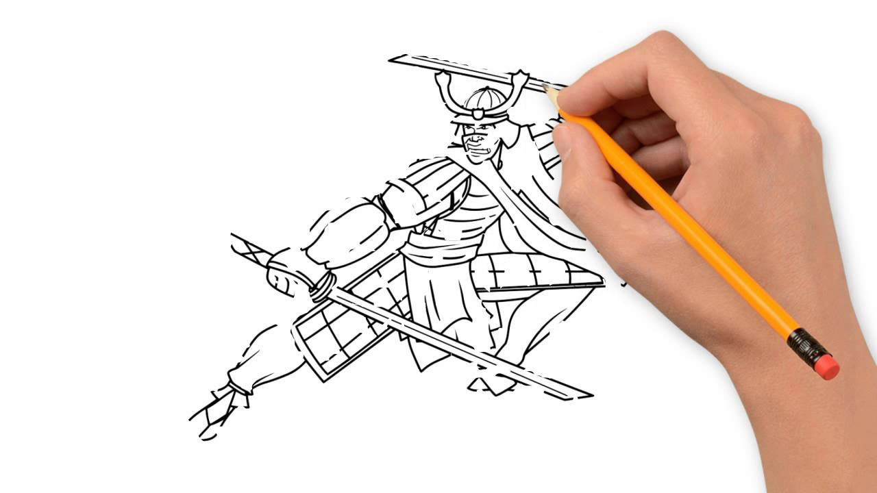 Drawn samurai easy Pencil by samurai step step