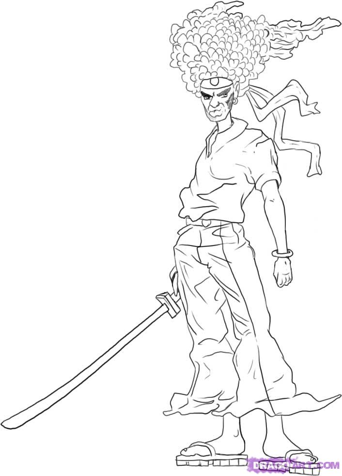 Drawn samurai easy To Step to  How