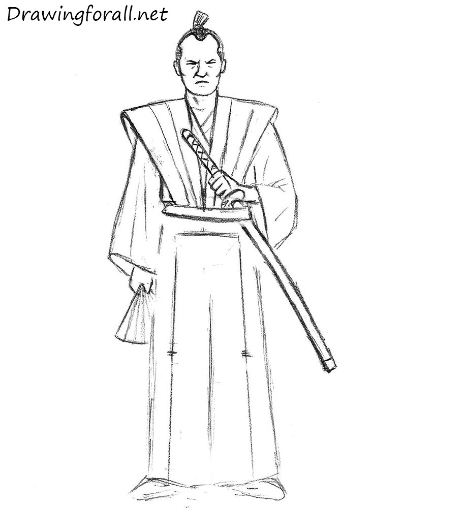Drawn samurai easy To DrawingForAll to How for