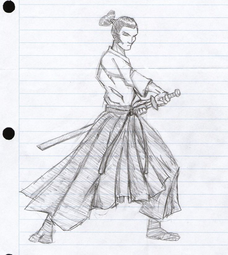 Drawn samurai easy Regular on The  class