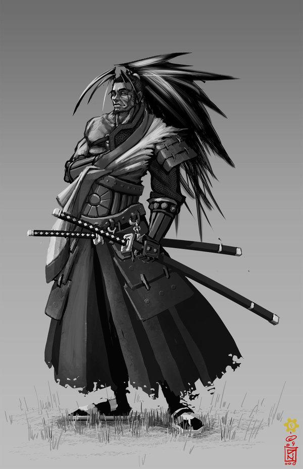 Drawn samurai epic samurai Miyamoto enough not w/ Samurai