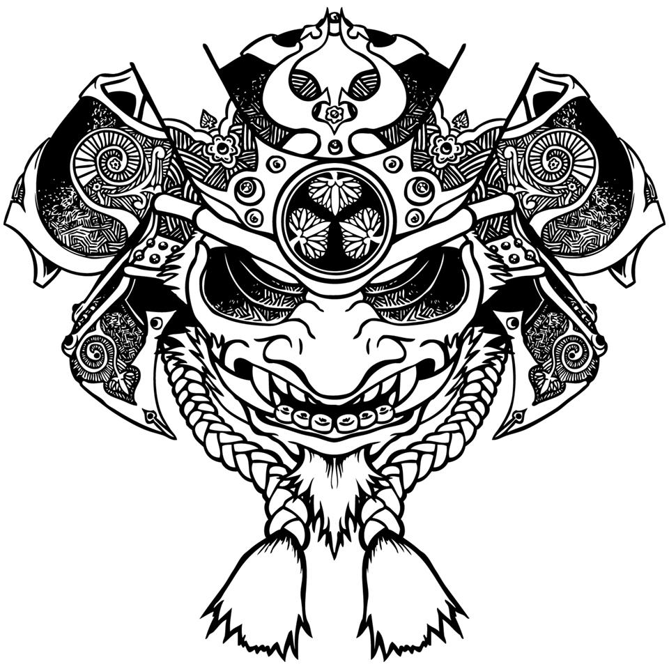 Drawn samurai face Com Oni deviantart Samurai by