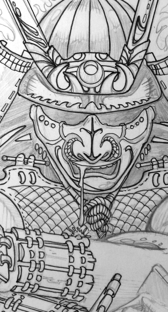 Drawn samurai face Drawings ideas tattoo Pinterest samurai
