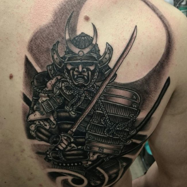 Drawn samurai face Tattoos Samurai Fearless Tattoo 75+