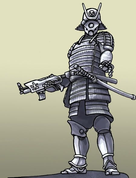 Drawn samurai futuristic Ideas armor Search  futuristic