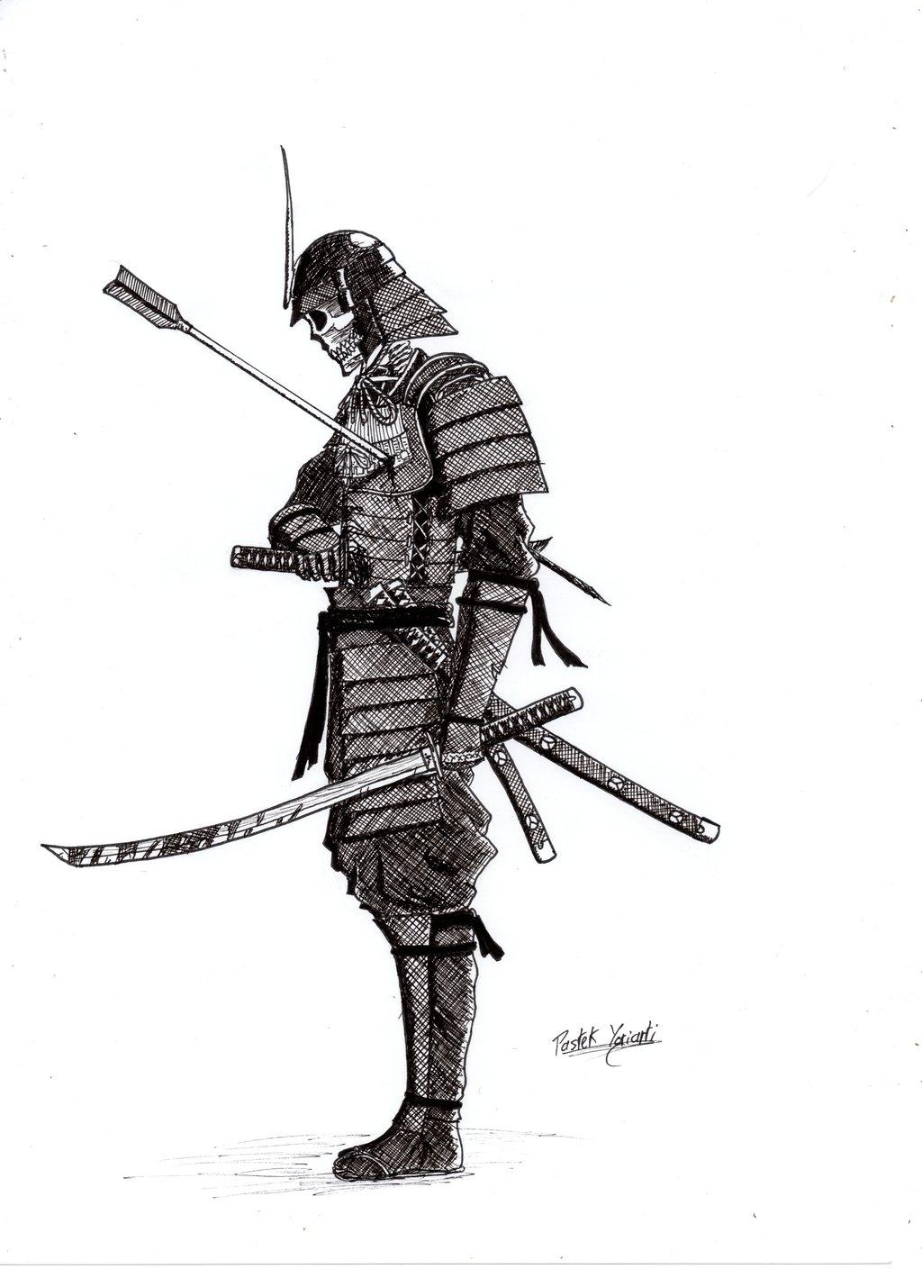 Drawn samurai harakiri Skeleton PastekArt Skeleton Samurai by
