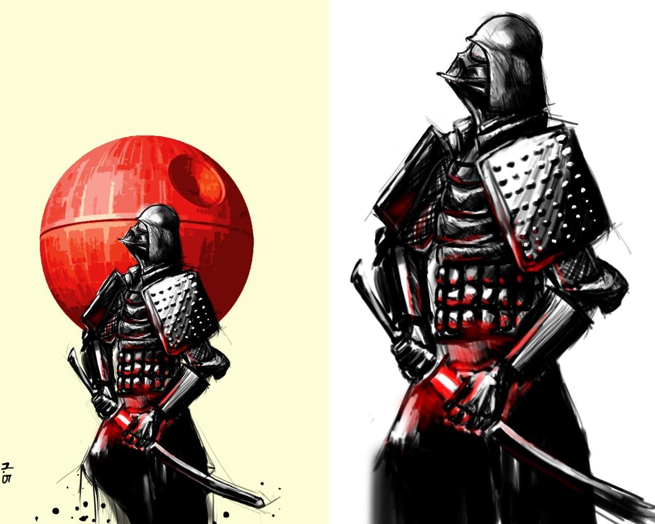 Drawn samurai hd wallpapers HD Wars Darth Mobile and