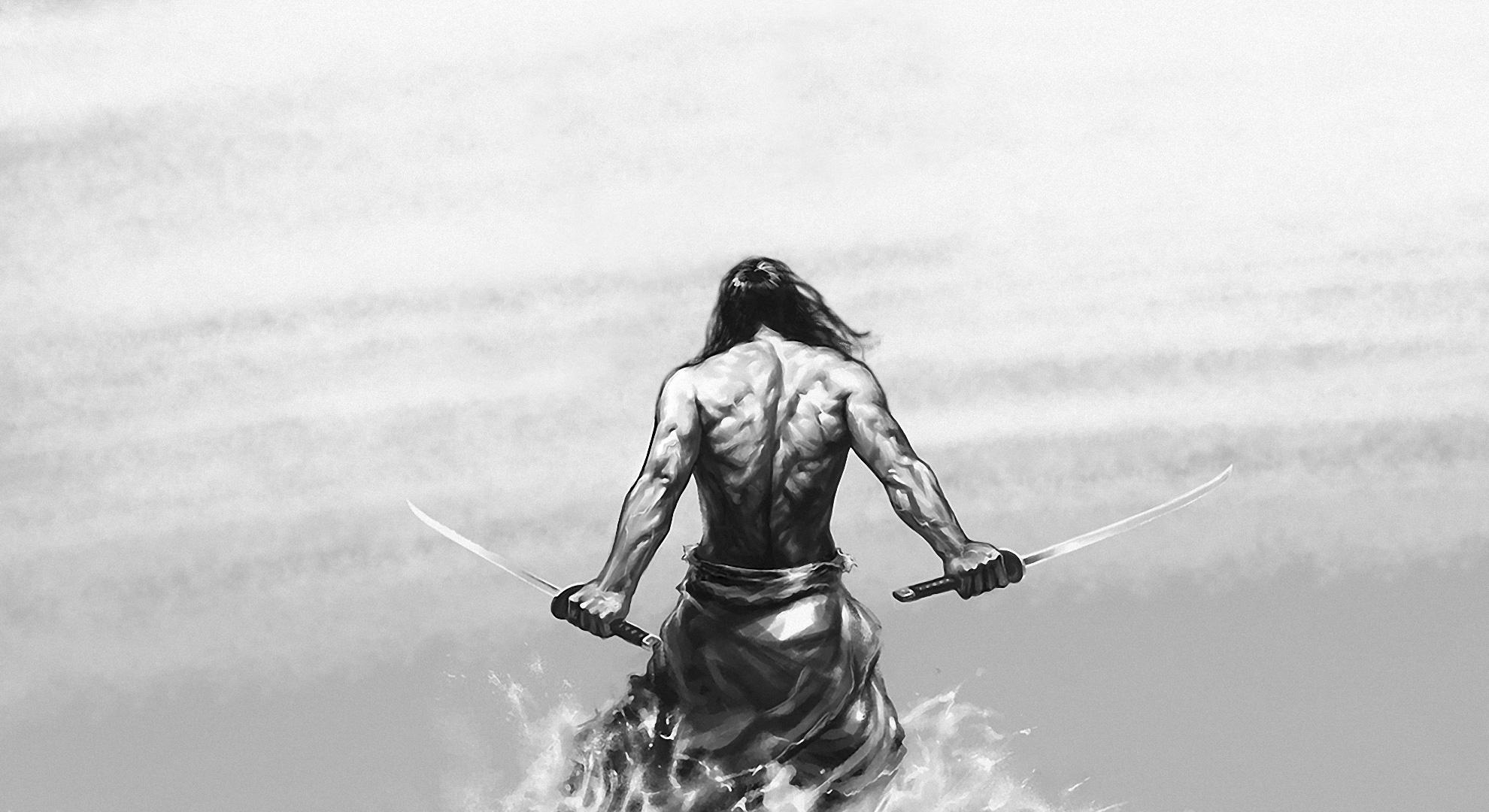 Drawn samurai hd wallpapers Abyss HD Wallpaper HD Backgrounds