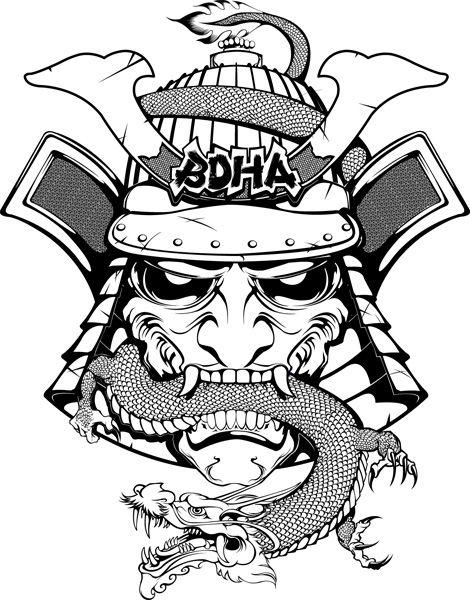 Drawn samurai head @DeviantArt deviantart by 20+