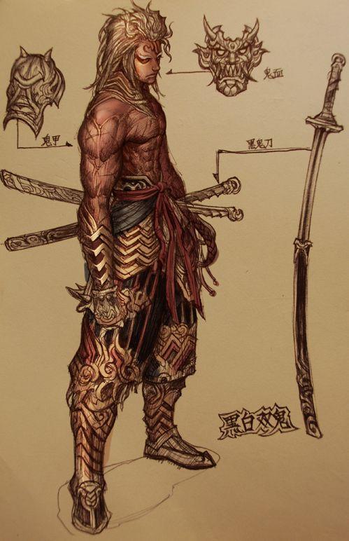 Drawn samurai hooded character Images Samurai · onimusha on