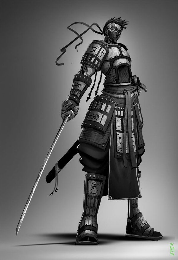 Drawn samurai hooded character Best dinmoney by images on