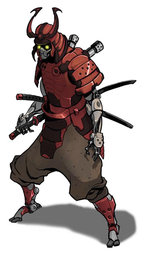Drawn samurai hooded character  shredder samurai samurai Best