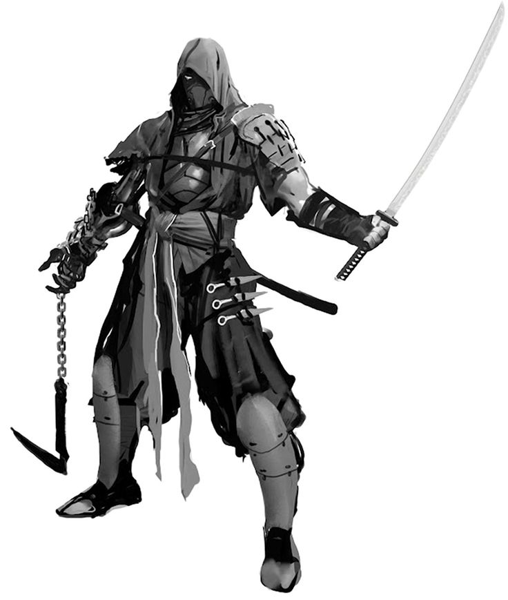 Drawn samurai hooded character Ninja Yaiba: Concept on Pinterest