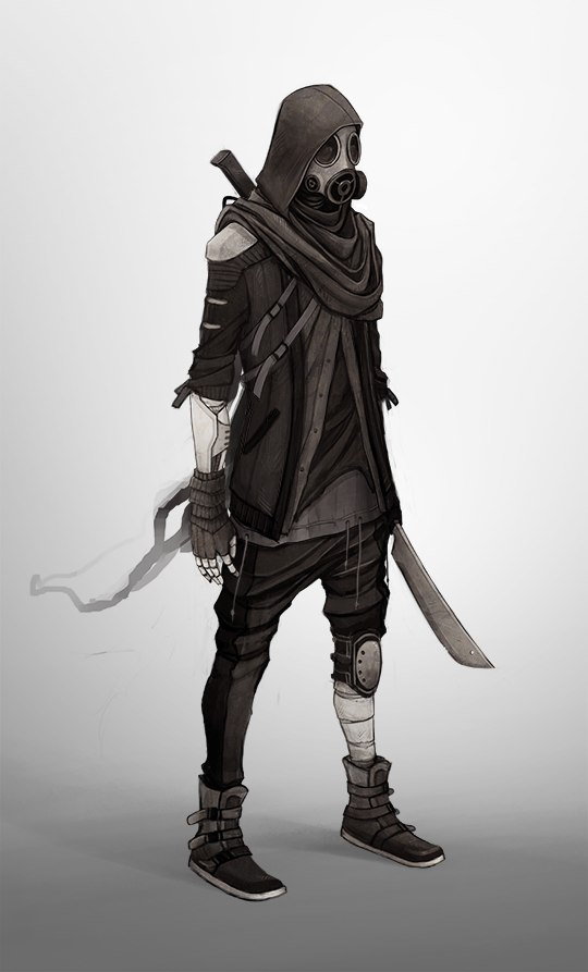 Drawn samurai hooded character Samurai apocalypse Another Samurai