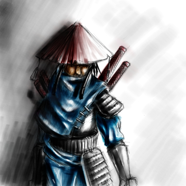 Drawn samurai hooded character By coloured samurai DeviantArt hooded