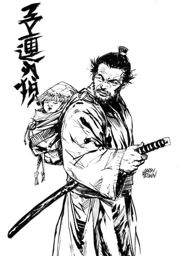 Drawn samurai hooded character DeviantART Pinterest and Wolf Bushido