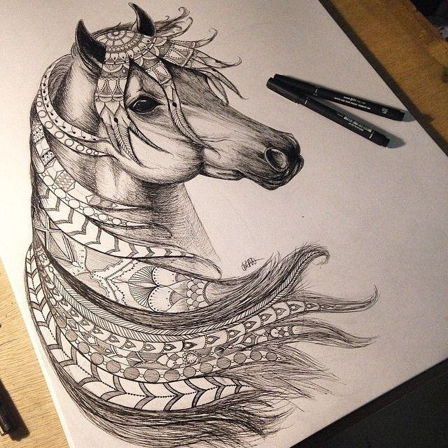 Drawn samurai horse Best horse 101 images Pinterest