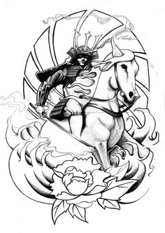 Drawn samurai horse Samurai Tattoos Design Samurai Tattoo