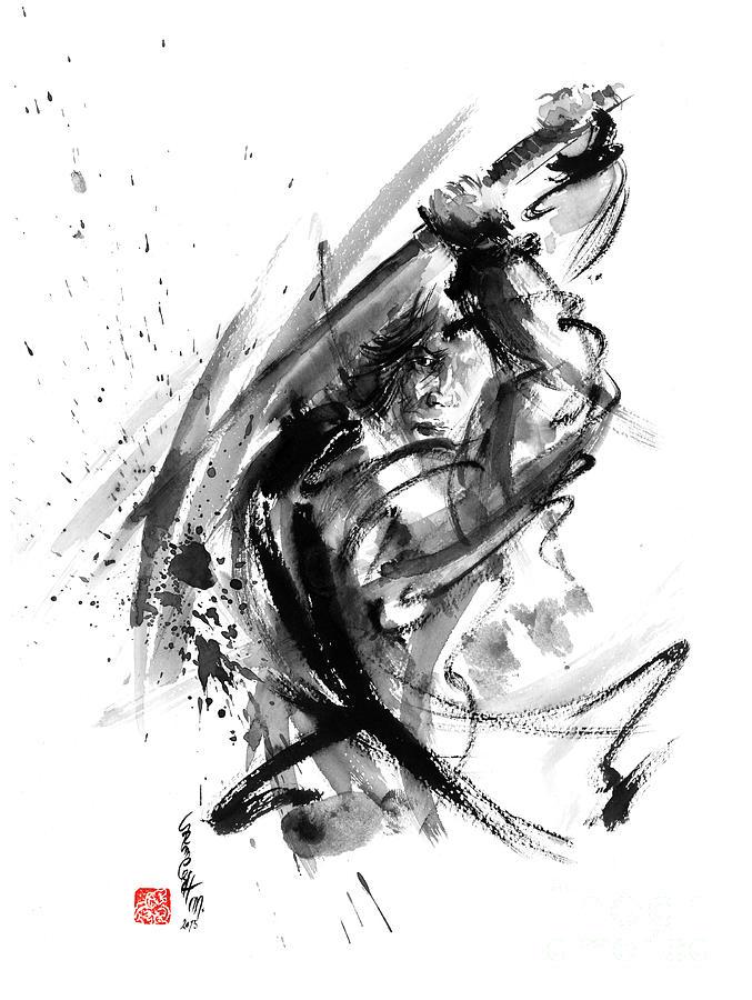 Drawn samurai ink CG Ink Samurai  Artwork