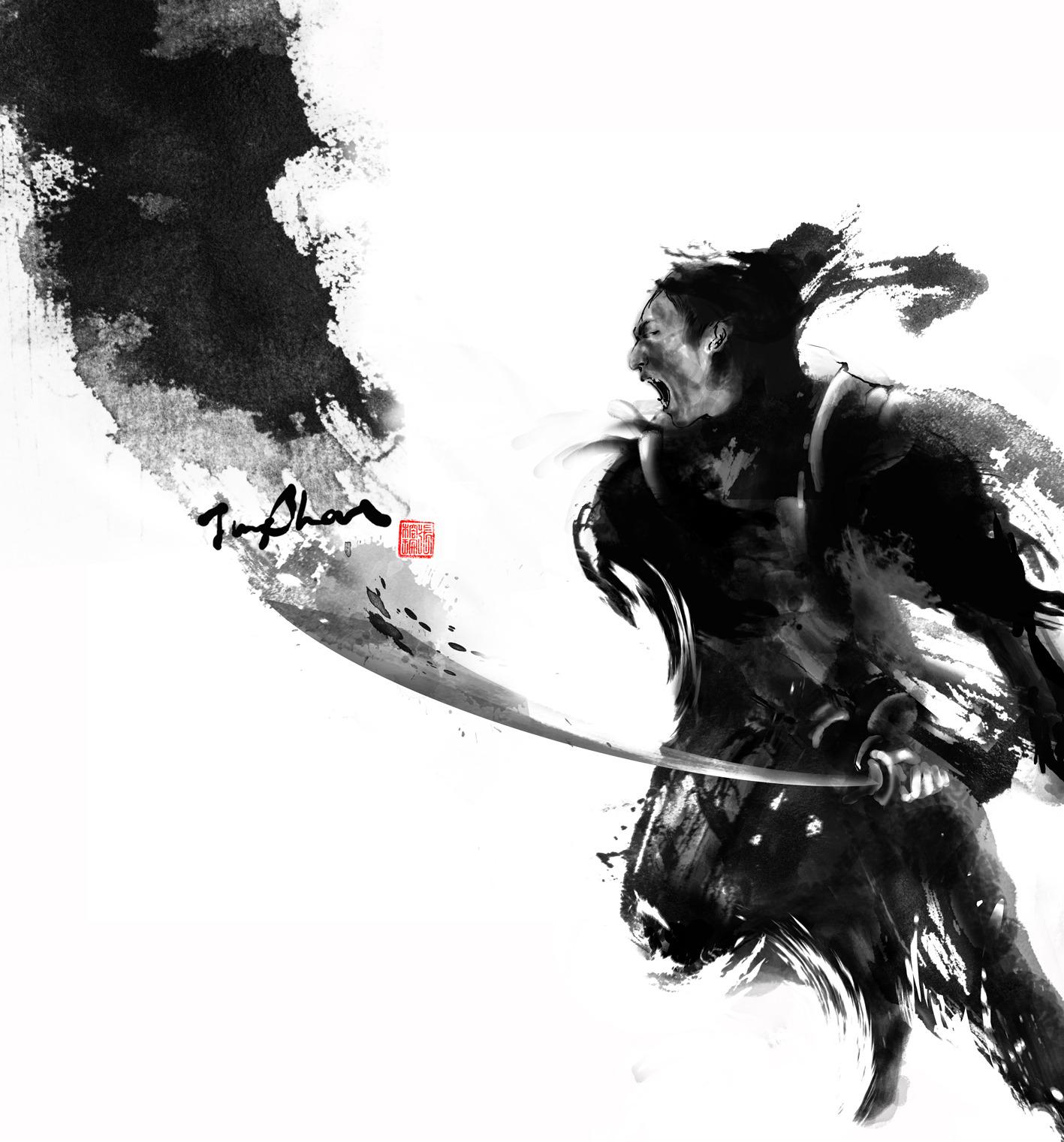 Drawn samurai ink #art graceful powerful is #samurai