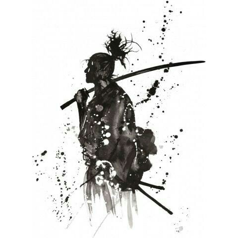 Drawn samurai ink Pinterest and Samurai MIYAMOTO yosef