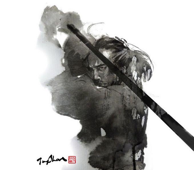 Drawn samurai ink On Pinterest Samurai 226 best