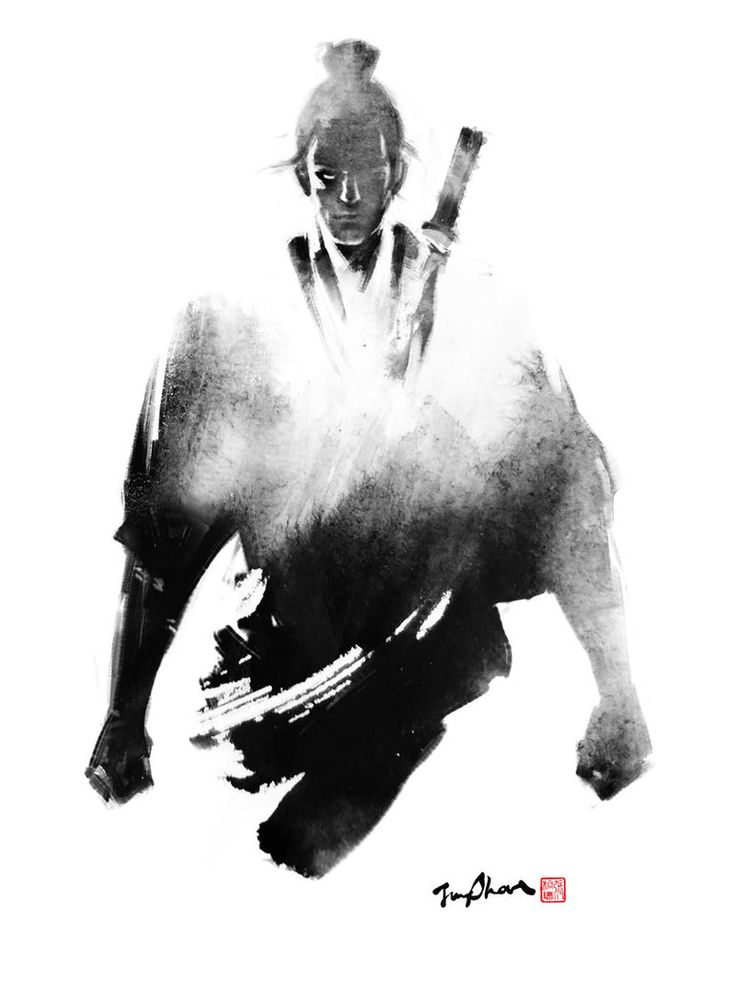 Drawn samurai ink Pinterest images Sumi e Jungshan