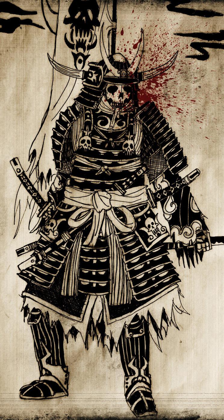 Drawn samurai iphone 6 wallpaper Ronin Samurai Parallax Wallpaper Wallpaper