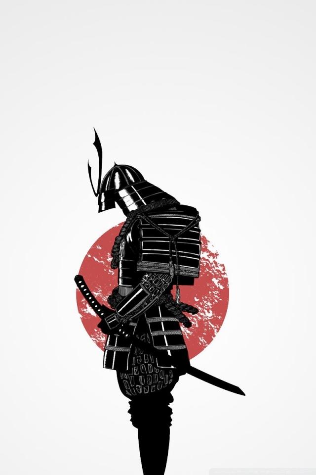 Drawn samurai iphone 6 wallpaper Mobile Fullscreen HVGA HD desktop