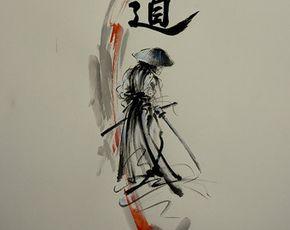 Drawn samurai japanese calligraphy Original Japanese e SamuraiArt ideas