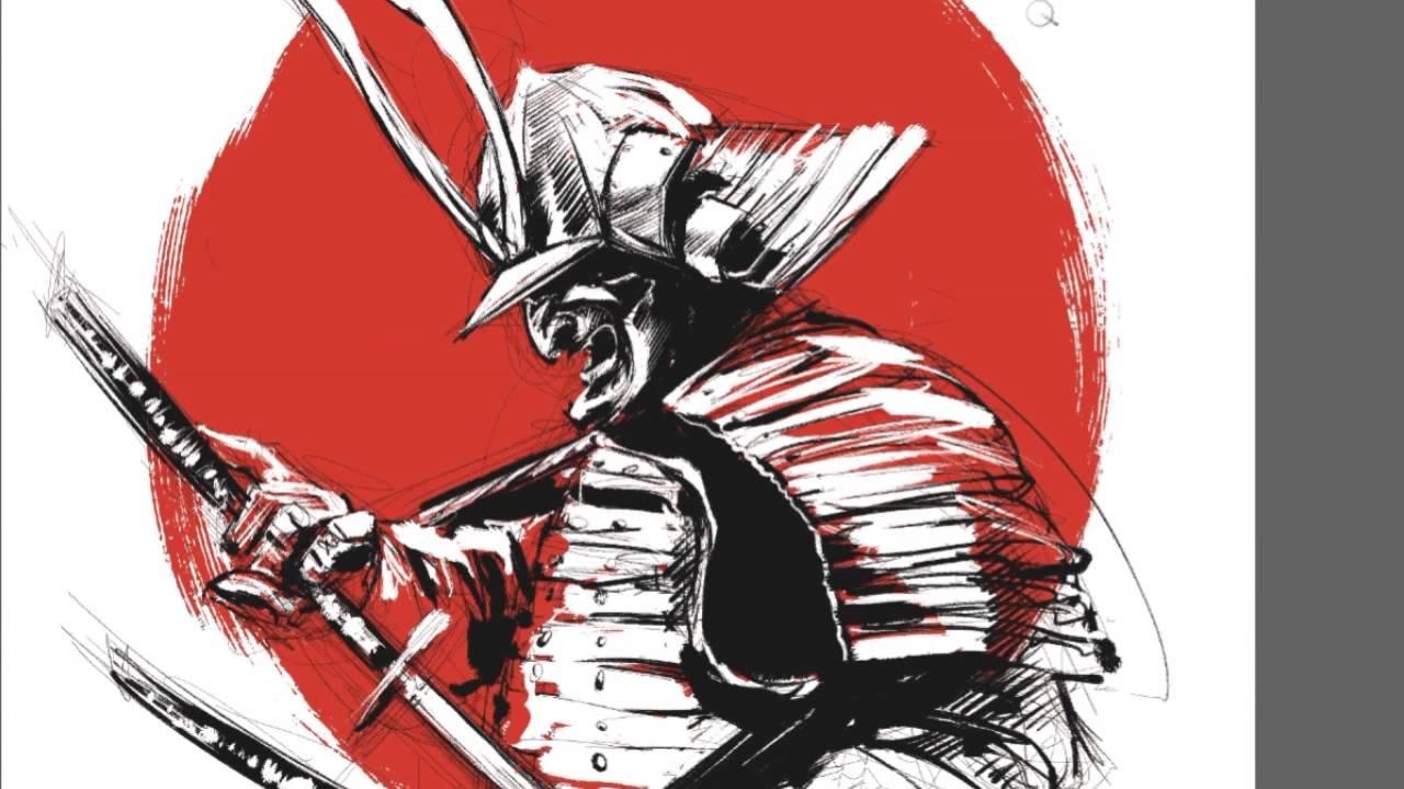Drawn samurai japanese drawing Drawing samurai a Me Me