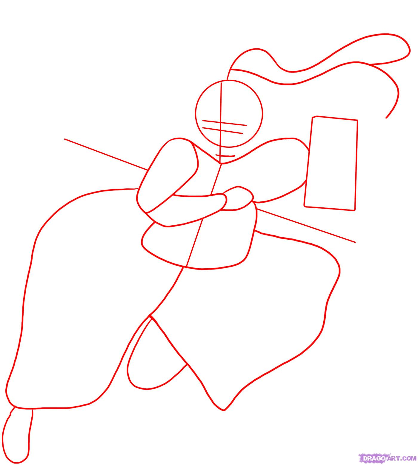Drawn samurai japanese drawing Draw to a 1 a