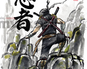 Drawn samurai japanese ninja Drawing Japanese a with sword