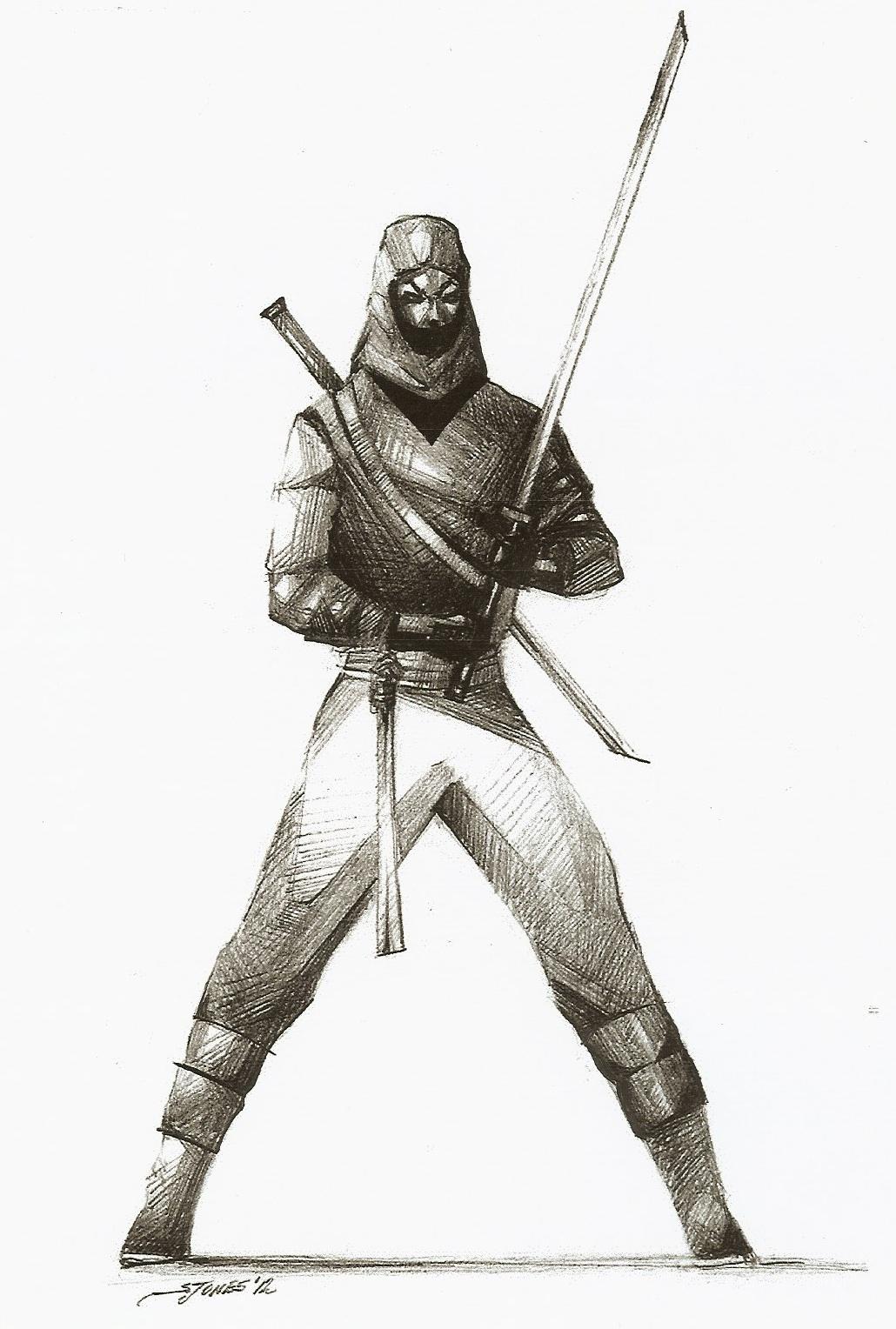 Drawn samurai japanese ninja & Truth  Warriors: Inside